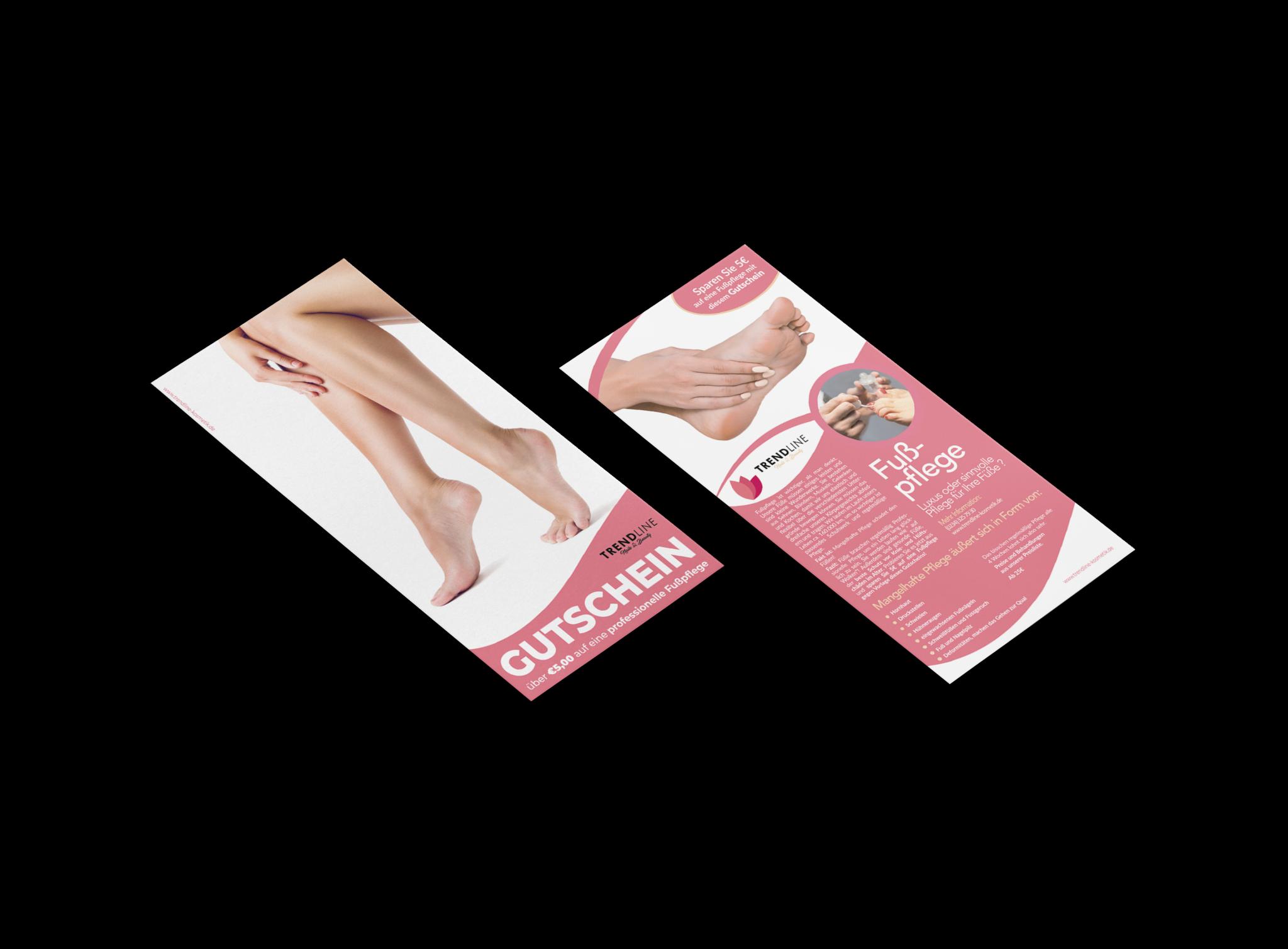 trendline flyer design fußpflege