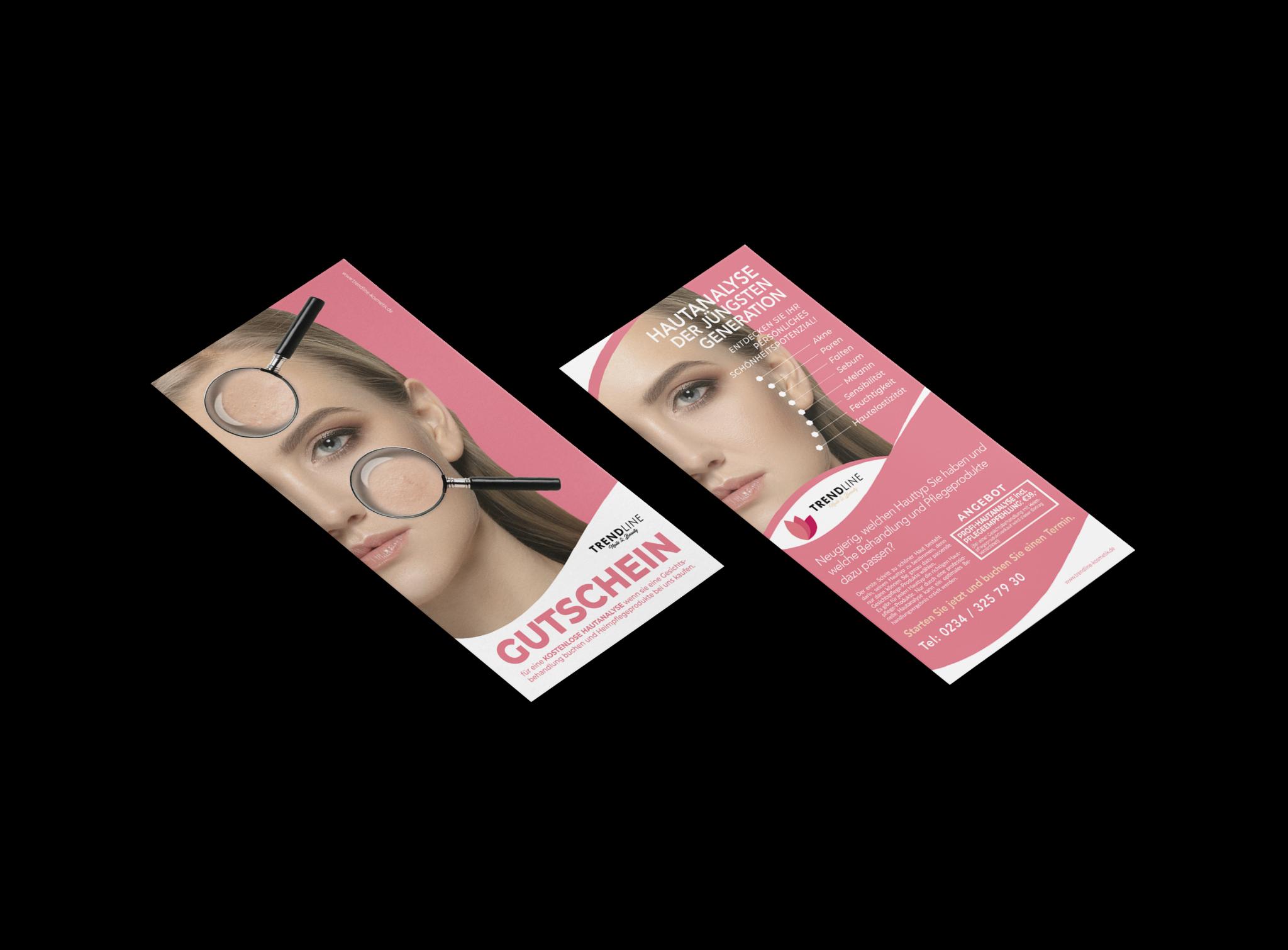 trendline flyer design hautanalyse